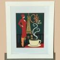 Affiche encadrée sous verre Café Tour Eiffel
