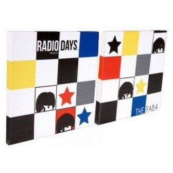 Deux toiles Beatles Radio Days