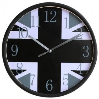 Horloge Union Jack Noir et Blanc