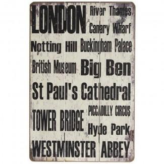 Panneau bois London (Streets)