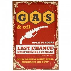 """Cadre toile """"Gas & Oil"""""""