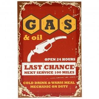 Toile cadre Gas & Oil Last Chance