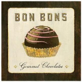 Toile sur châssis Bonbons Gourmet Chocolates