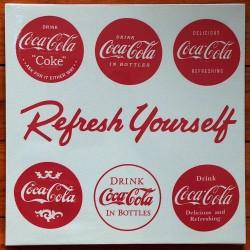 Toile tendue Logos Coca Refresh Yourself