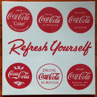Toile carrée Coca Refresh Yourself