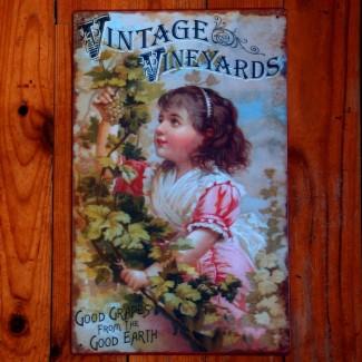 Plaque murale Vintage Vineyards