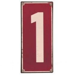 Plaque métal numéro 1