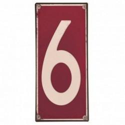 Plaque métal numéro 6
