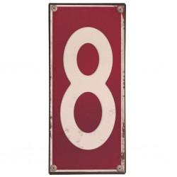 Plaque métal numéro 8