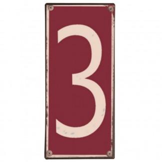 Plaque métal numéro 3