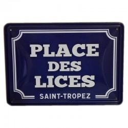Plaque de rue - Place des Lices St-Tropez
