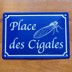 Plaque Place des Cigales
