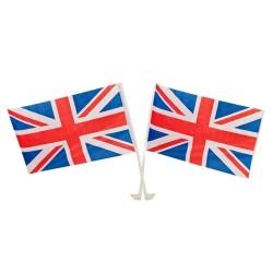 Deux drapeaux de voiture Union Jack