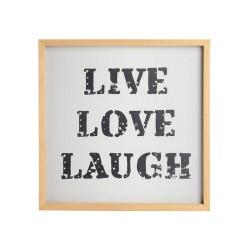 Cadre en bois Live Love Laugh