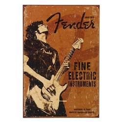 Plaque Fender Rock Guitare