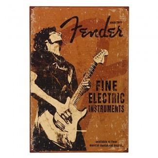 Plaque Fender Rock Guitare