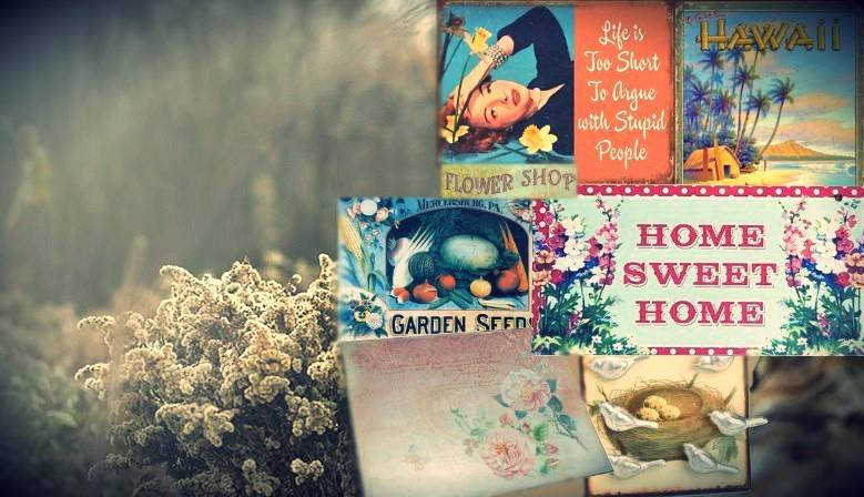 Plaques natures & fleurs